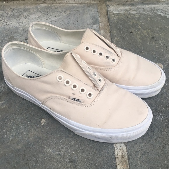 Vans Slipons Creamcolored Brushed Twill